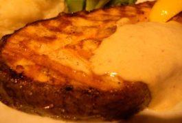 Medallones con salmón con mostaza